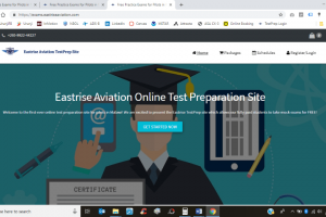 Test Prep Site home screenshot
